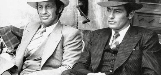 "Jean Paul Belmondo e  Alain Delon Borsalino in una foto di scena del film ""Borsalino"" , 1970 ANSA/Collection Christophel"